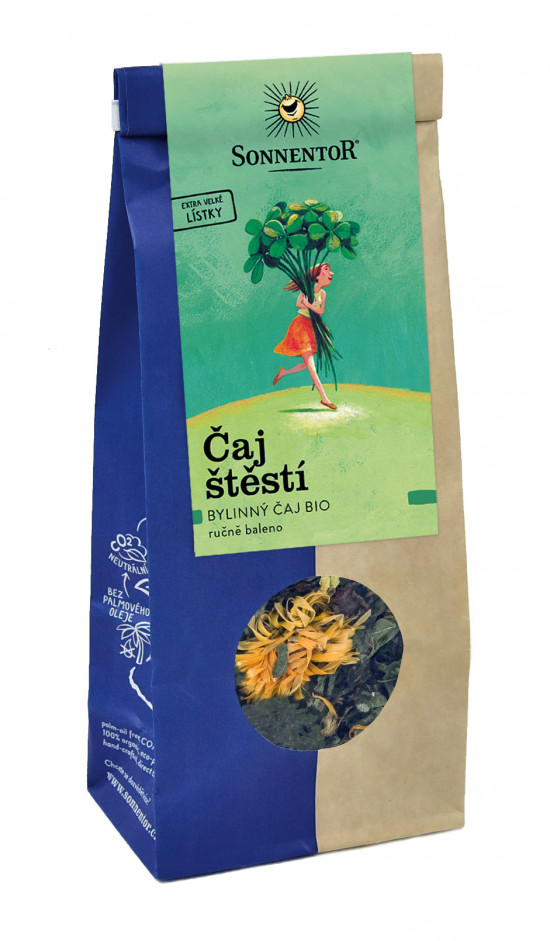 BIO bylinný čaj, Sonnentor Čaj štěstí, sypaný, 50 g