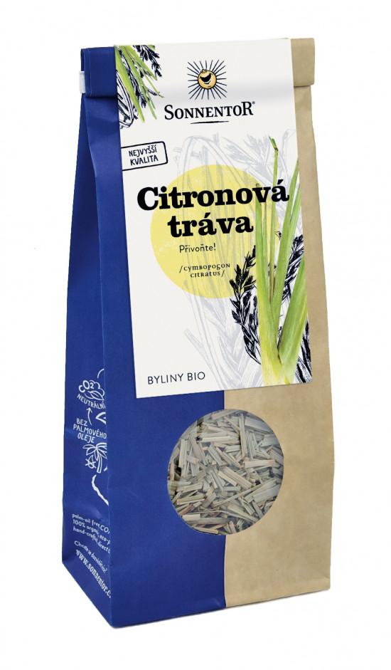 BIO bylinný čaj, Sonnentor Citronová tráva, Cymbopogon citratus, sypaný, 80 g