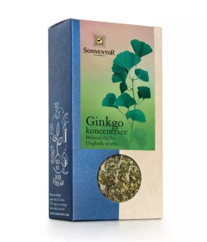 BIO bylinný čaj, Sonnentor Ginkgo - koncentrace, sypaný, 50 g
