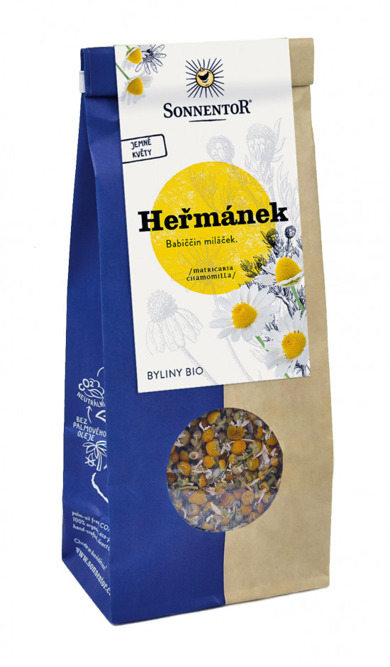 BIO bylinný čaj, Sonnentor Heřmánek, Matricaria chamomilla, sypaný, 50 g-2266