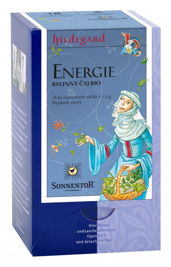 BIO bylinný čaj, Sonnentor Hildegarda - Energie, porcovaný, 18 sáčků
