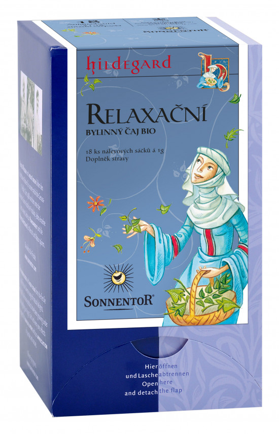 BIO bylinný čaj, Sonnentor Hildegarda - Relaxační, porcovaný, 18 sáčků-2062