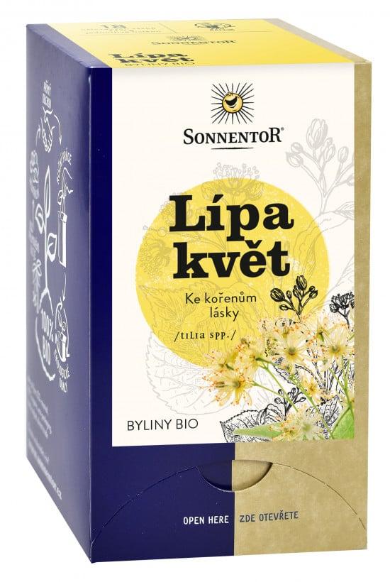 BIO bylinný čaj, Sonnentor Lípa květ, Tilia spp., porcovaný, 18 sáčků