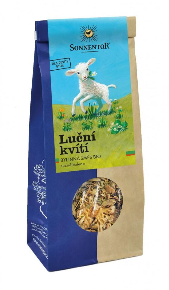 BIO bylinný čaj, Sonnentor Luční kvítí - devatero bylin, sypaný, 60 g