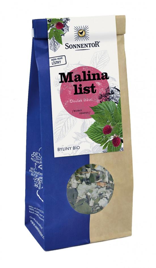 BIO bylinný čaj, Sonnentor Malina list, Rubus idaeus, sypaný, 50 g