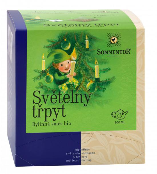 BIO bylinný čaj, Sonnentor Světelný třpyt, porcovaný, 12 pyramidálních sáčků