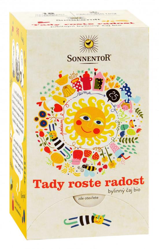 BIO bylinný čaj, Sonnentor Tady roste radost, porcovaný, 18 sáčků