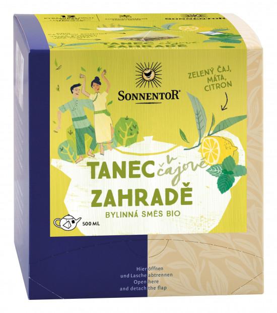 BIO bylinný čaj, Sonnentor Tanec v čajové zahradě, obsahuje kofein, porcovaný, 12 pyramid. sáčků-2159