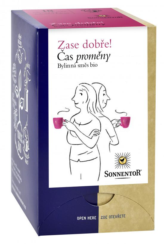 BIO bylinný čaj, Sonnentor Zase dobře - Čas proměny, porcovaný, 18 sáčků-1988