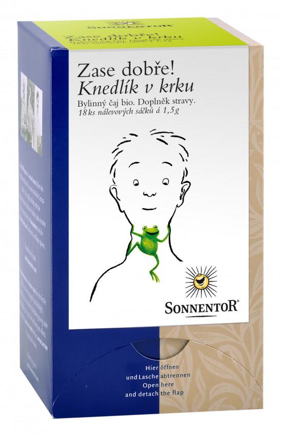BIO bylinný čaj, Sonnentor Zase dobře - Knedlík v krku, porcovaný, 18 sáčků
