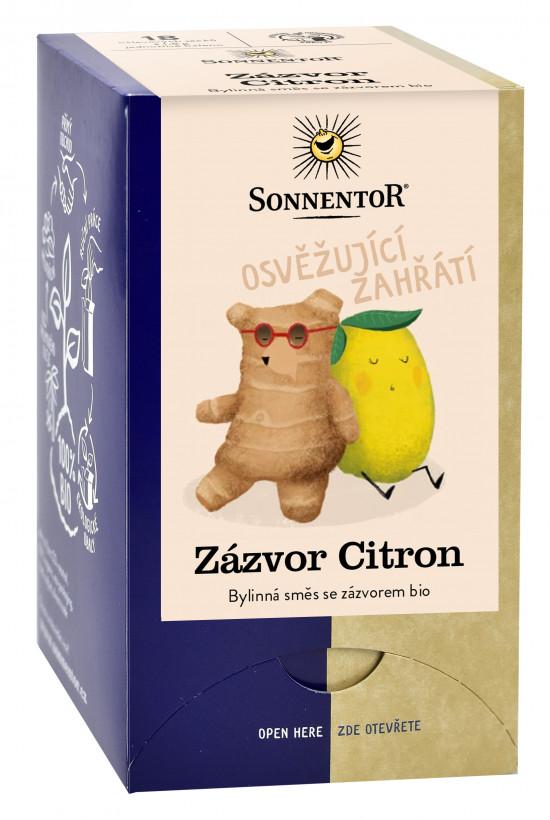 BIO bylinný čaj, Sonnentor Zázvor Citron, porcovaný, 18 sáčků-2293