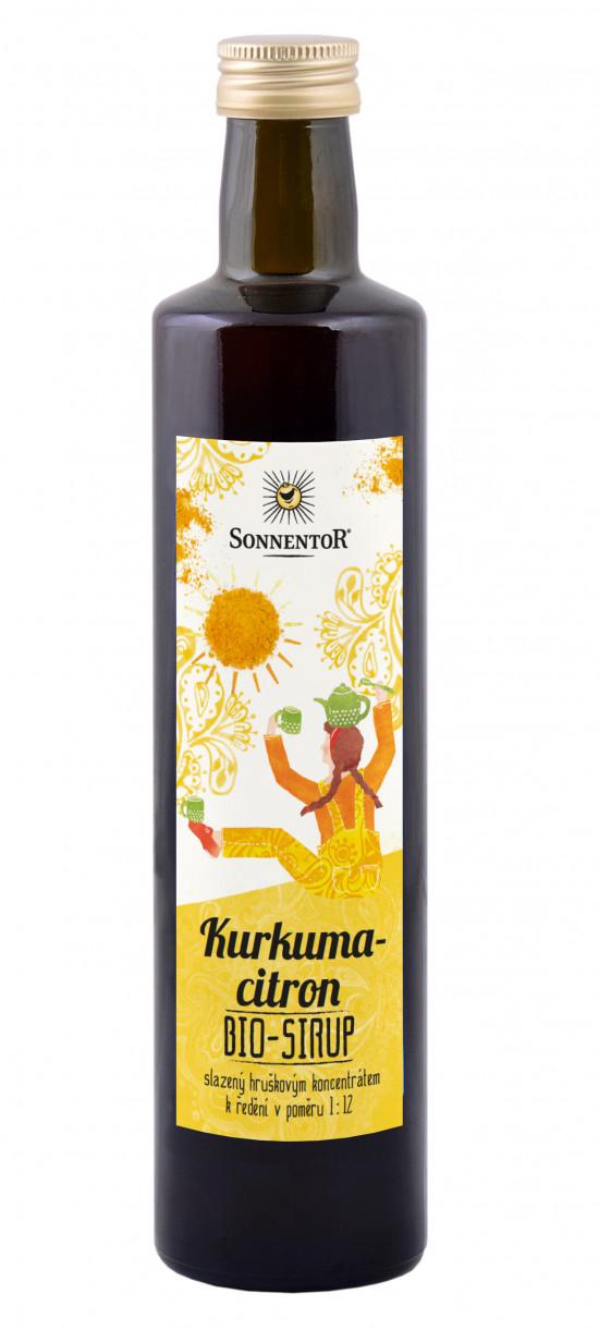 BIO bylinný sirup, Sonnentor Kurkuma a citron, 500 ml-2278
