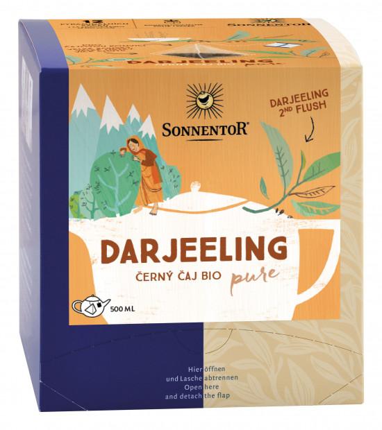 BIO černý čaj, Sonnentor Pure - Darjeeling, obsahuje kofein, porcovaný, 12 pyramidálních sáčků-2056