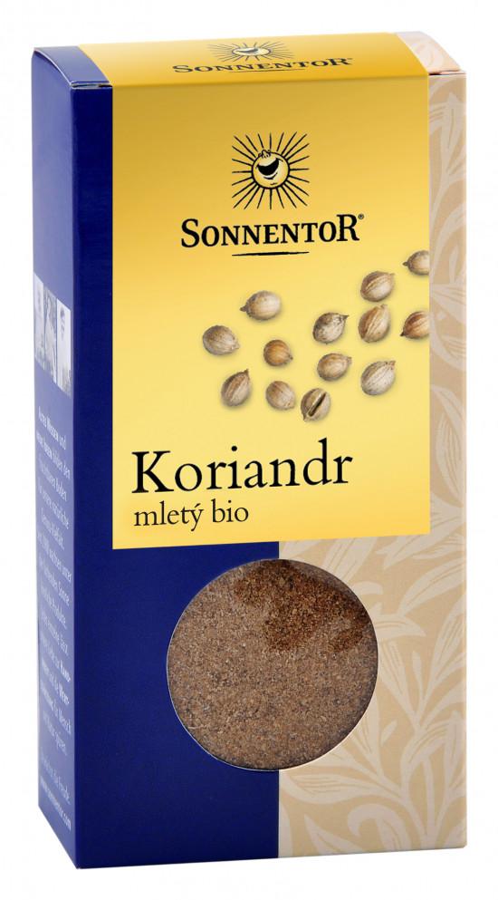 BIO koření, Sonnentor Koriandr mletý, Coriandrum sativum, krabička, 40 g