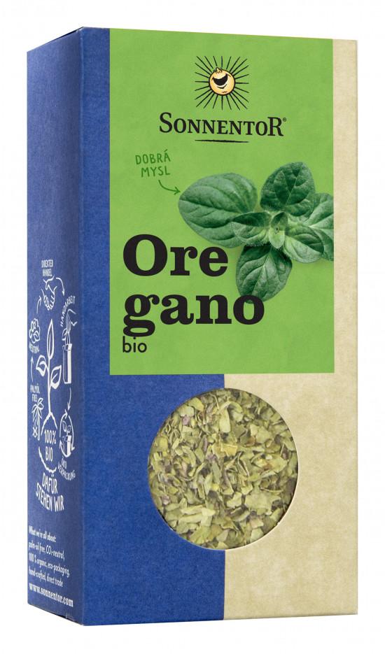 BIO koření, Sonnentor Oregano neboli Dobromysl, Origanum vulgare spp. Hirtum, krabička, 18 g-2191