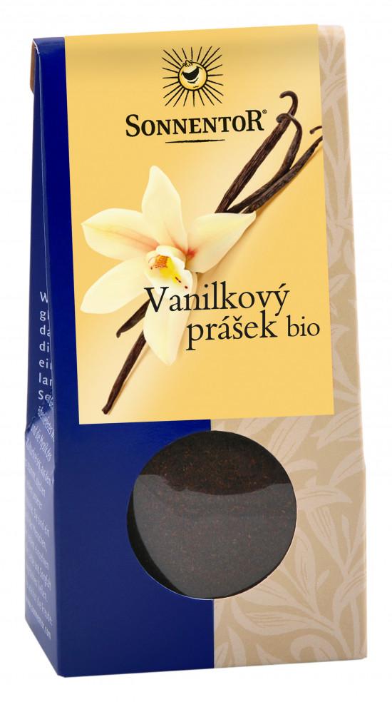 BIO koření, Sonnentor Vanilka mletá, Vanilla planifolia, krabička, 10 g