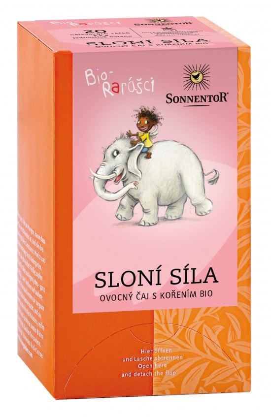 BIO ovocný čaj s kořením, Sonnentor Bio Rarášci - Sloní síla, porcovaný, 20 sáčků