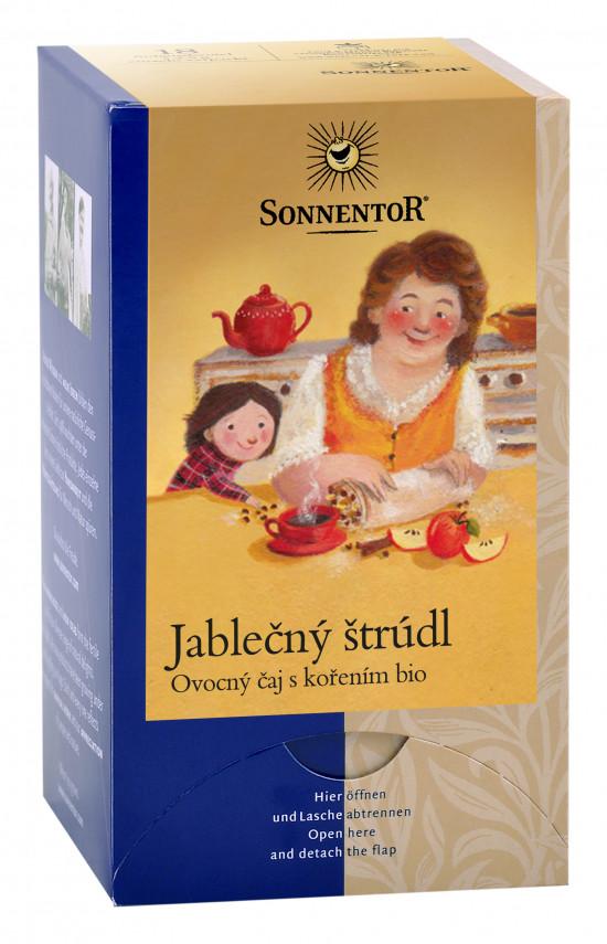 BIO ovocný čaj s kořením, Sonnentor Jablečný štrúdl, porcovaný, 18 sáčků