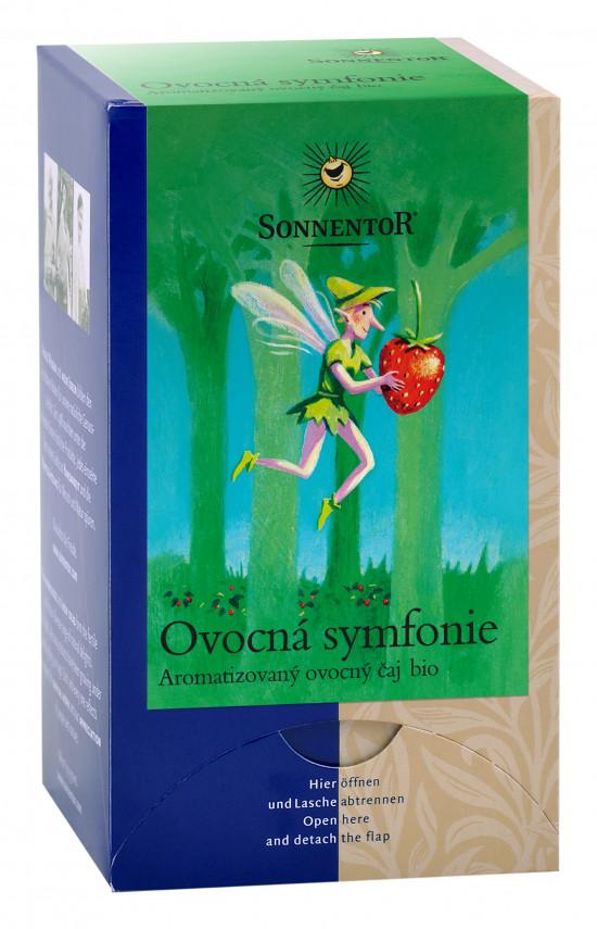 BIO ovocný čaj, Sonnentor Ovocná symfonie, porcovaný, 18 sáčků