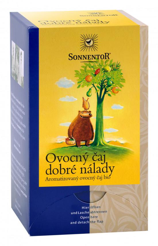 BIO ovocný čaj, Sonnentor Ovocný čaj dobré nálady, porcovaný, 18 sáčků-2030