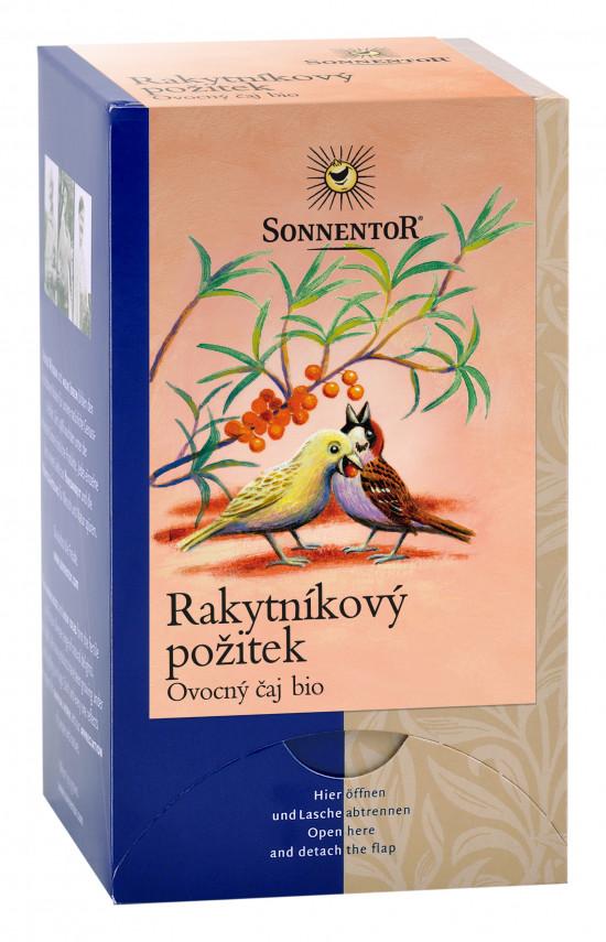 BIO ovocný čaj, Sonnentor Rakytníkový požitek, porcovaný, 18 sáčků-2178