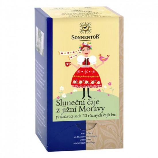 BIO poznávací sada bylinných a ovocných čajů, Sonnentor Sluneční čaje z jižní Moravy, 20 sáčků-2289