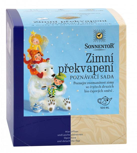 BIO poznávací sada bylinných čajů, Sonnentor Zimní překvapení, porcovaný, 12 pyramidálních sáčků-2165