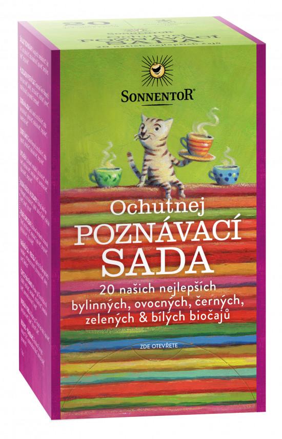 BIO poznávací sada nej bylinných a ovocných čajů, Sonnentor Ochutnej, porcované, 20 sáčků