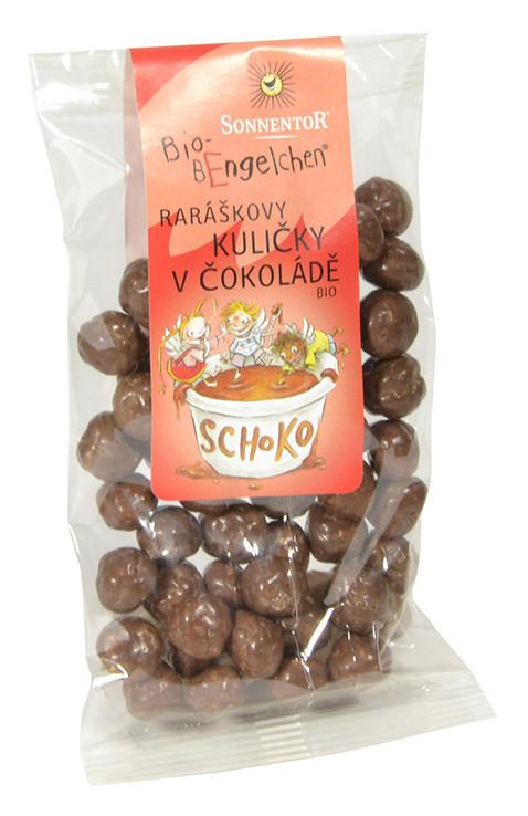 BIO Raráškovy kuličky v čokoládě, Sonnentor Bio Rarášci, 25 g