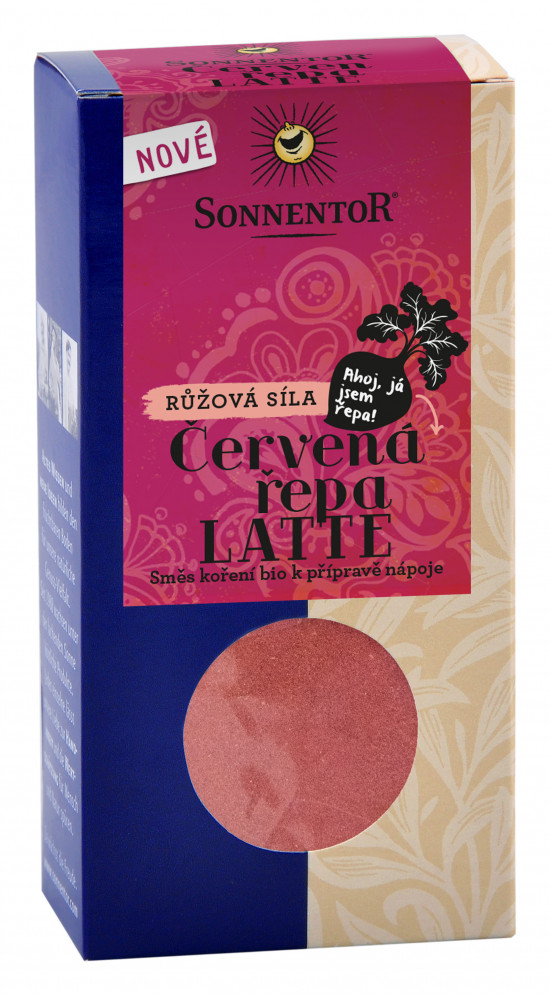 BIO směs koření pro přípravu nápoje, Sonnentor Červená řepa Latte, krabička, 70 g-2163