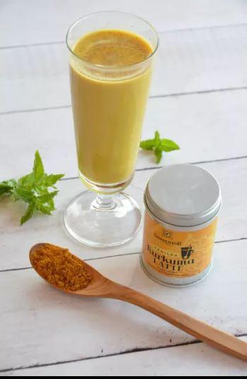 BIO směs koření pro přípravu nápoje, Sonnentor Kurkuma Latte Vanilka - Zlaté mléko, dóza, 60 g-5608
