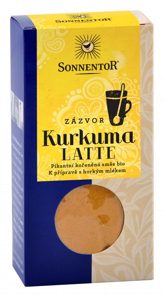 BIO směs koření pro přípravu nápoje, Sonnentor Kurkuma Latte Zázvor - Zlaté mléko, krabička, 60 g-2028