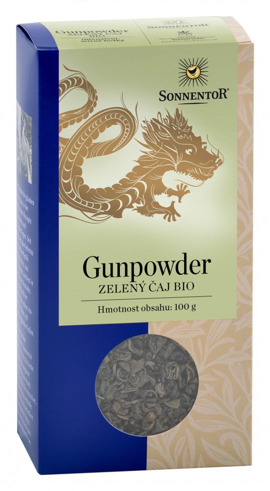 BIO zelený čaj, Sonnentor Gunpowder, sypaný, obsahuje kofein, 100 g