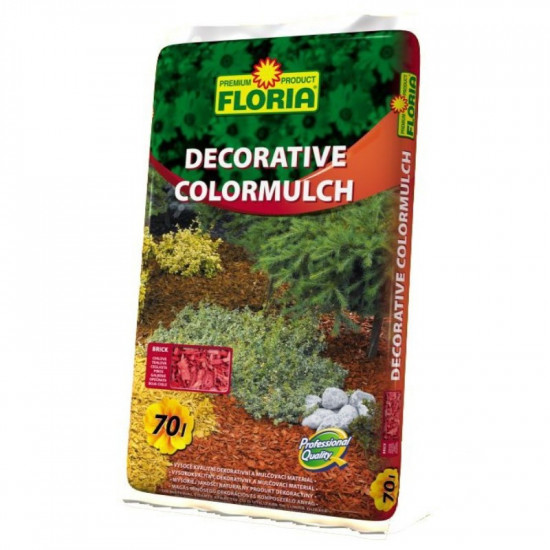 Dekorační kůra Floria DECORATIVE COLORMULCH, balení 70 l, cihlová