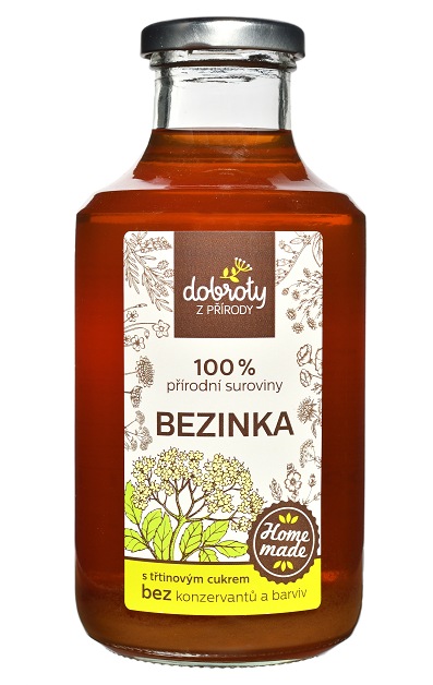 Domácí bylinný sirup, Dobroty z přírody Bezinka, 500 ml-2401