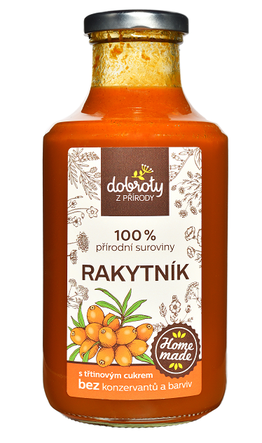 Domácí bylinný sirup, Dobroty z přírody Rakytník, 500 ml
