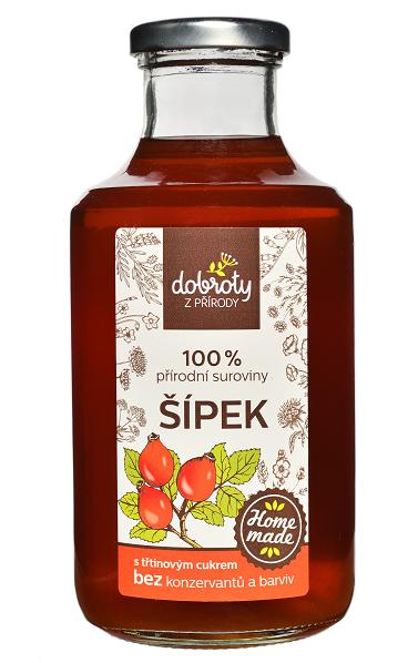 Domácí bylinný sirup, Dobroty z přírody Šípek, 500 ml-2409