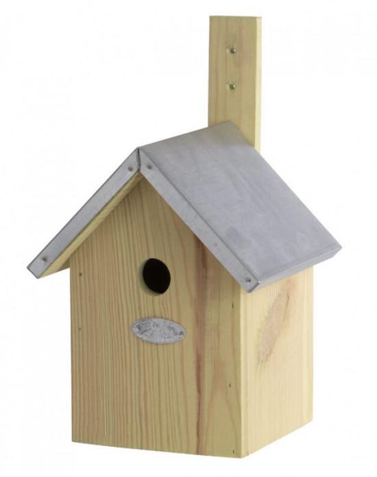 Dřevěná ptačí budka pro sýkoru modřinku, Esschert Design, přírodní-5407