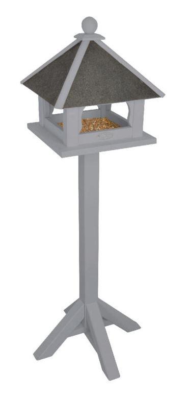 Dřevěné krmítko pro ptáky na noze, Esschert Design FARMA, šedé