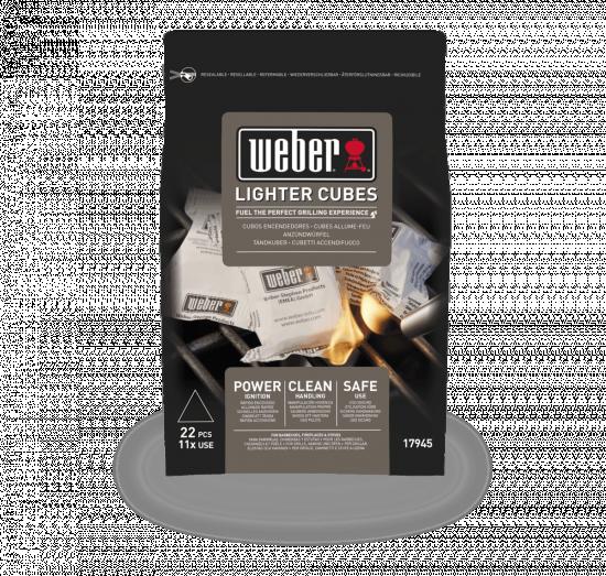 Ekologické podpalovací kostky Weber, černé, 22 ks-2716