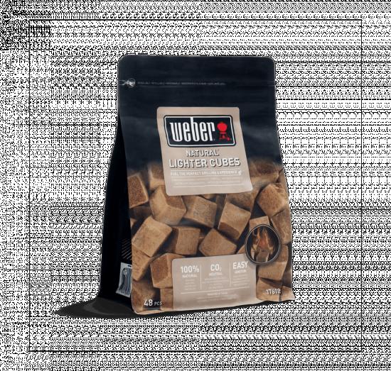 Ekologické podpalovací kostky Weber, hnědé, 48 ks