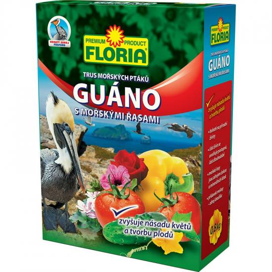 Guáno s mořskými řasami, Floria, balení 0.8 kg