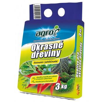 Hnojivo pro OKRASNÉ DŘEVINY, Agro, balení 3kg-3283