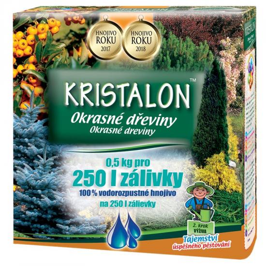 Hnojivo pro OKRASNÉ DŘEVINY, Agro Kristalon, balení 0.5 kg