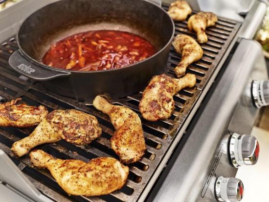 Hrnec litinový bez gril.roštu Gourmet BBQ-1606