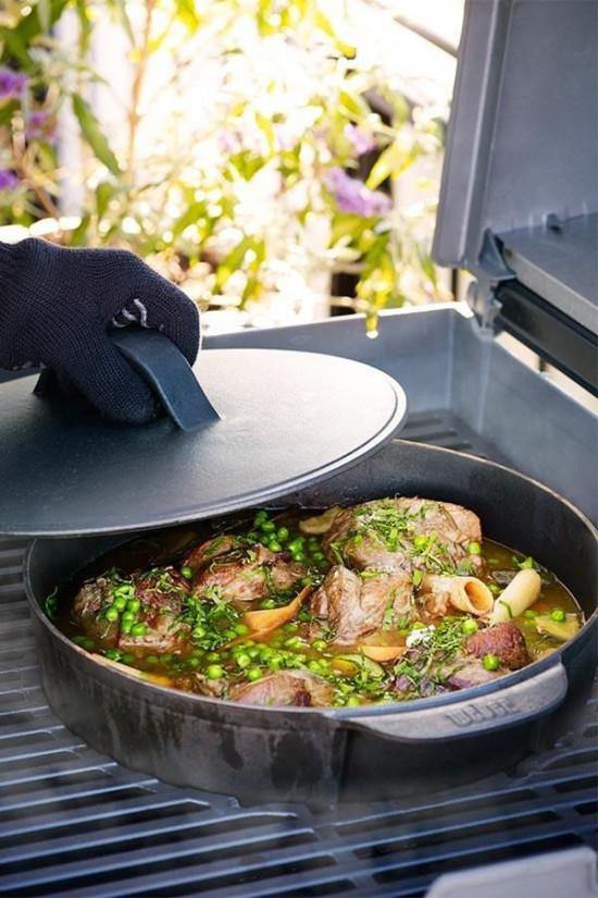 Hrnec litinový bez gril.roštu Gourmet BBQ-1607