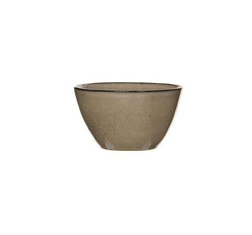 Keramická miska Mica TABO, glazovaná, průměr 11 cm, hnědá
