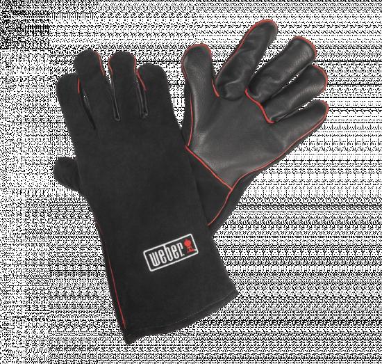Kožené rukavice na grilování Weber, velikost UNI, černé