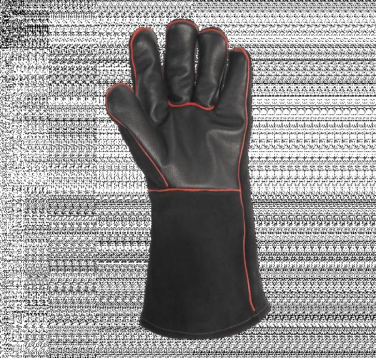 Kožené rukavice na grilování Weber, velikost UNI, černé-6904