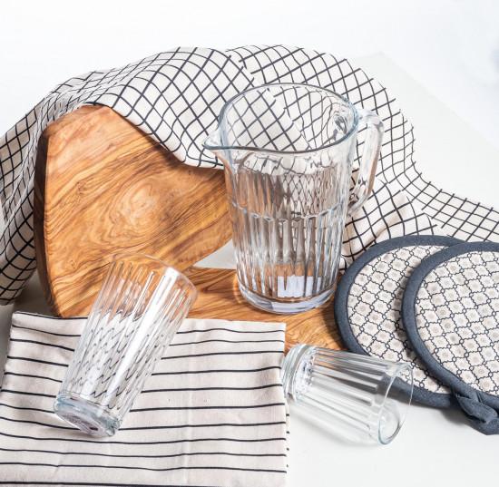 Kuchyňská utěrka Mica BADHI, bavlněná, taupe, 2 ks-12477